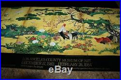 The Shogun Age Exhibition Los Angeles County Museum of Art Poster Birds & Flower