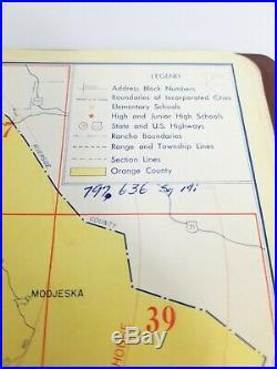 Thomas Bros Map Los Angeles Orange County 1955 Very Rare Excellent