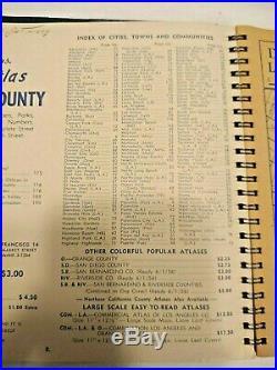 Thomas Bros. Popular Atlas Los Angeles County Complete Street Info. 1956 Edition