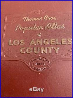 Thomas Bros Popular Atlas Of Los Angeles County 1955 Addition rare