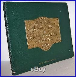 Vintage 1950 Thomas Bros Brothers Map Guide Atlas Book Los Angeles County
