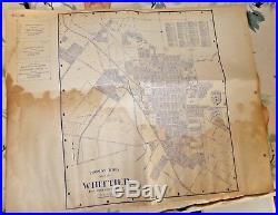 VINTAGE PARCEL MAP THOMAS BROS WHITTIER LOS ANGELES COUNTY FULLERTON c1930