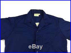 VTG California Bowling Shirt Southern Los Angeles County LA Blue Mens Size Large