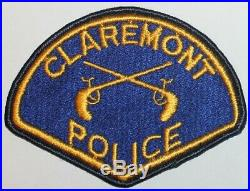 Very Old CLAREMONT POLICE Los Angeles County California CA PD 1st Issue Vintage