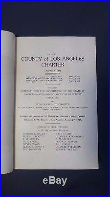 Vintage 1926 County of Los Angeles Charter Booklet