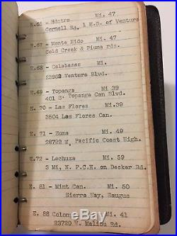 Vintage 1940s Los Angeles County Fire Department Forestry Note Pad Book Reports