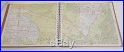 Vintage 1950s 1953 THOMAS BROS Popular Atlas LOS ANGELES COUNTY map book VGC