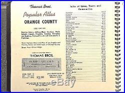 Vintage 1952 Thomas Bros. Atlas of Los Angeles and Orange County
