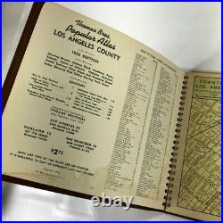 Vintage 1953 Thomas Bros. Popular Atlas & Los Angeles County Street Guide Book