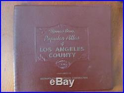 Vintage 1955 Thomas Bros Popular Atlas Of LOS ANGELES County CALIFORNIA Maps