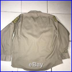 Vintage 1960's Sheriff Shirt Los Angeles County Sheriff's Dept Uniform Retired