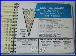 Vintage 1978 Edition Los Angeles County Thomas Bros Atlas Good Condition