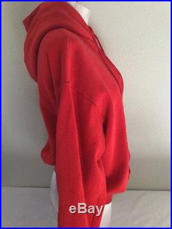 Vintage County Of Los Angeles Fire Department Red Zip Up Hoodie See Photos Sz