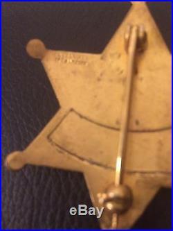 Vintage Fresno County Sheriff Aero Squadron Badge Entenmann Los Angeles