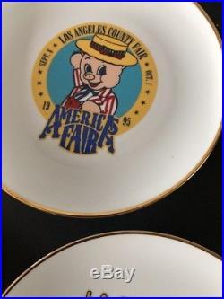 Vintage Los Angeles County Fair Collectible Plates 1992, 1993, 1994, 1995