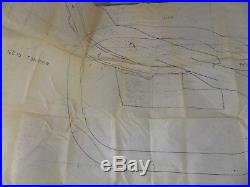 Vintage Los Angeles County Old Road Freeway City Zoning Map 1964 California