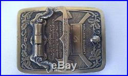 Vintage NEW Condition County of LOS ANGELES FIRE DEPT Brass Belt Buckle Limited