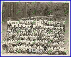 Vintage Photo 1955 CAMP CONRAD ALL BOYS Summer INGLEWOOD YMCA Los Angeles County