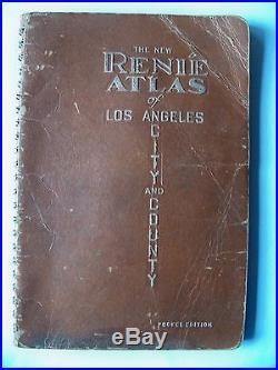 Vintage RENIE ATLAS 1942 LOS ANGELES CITY & COUNTY POCKET EDITION