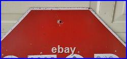 Vintage Stop Sign Cat Eyes Reflectors 30 Los Angeles County Rare CA-65