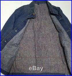 Vintage Wrangler Denim Jacket 1950's Blanket Lined Los Angeles County Jail 40