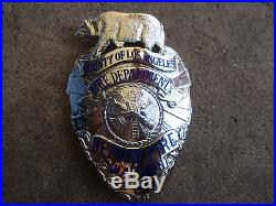 Vintage obsolete Los Angeles California Deputy Fire Warden dept county Badge