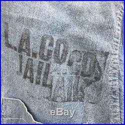 Vtg 1960's LA County Jail Chambray Work Shirt Cheech & Chong Los Angeles Prison