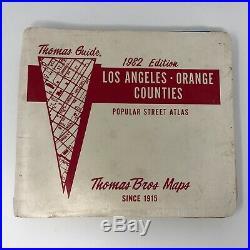 Vtg 1982 Thomas Guide Los Angeles Orange County California Road Atlas Map Book