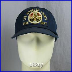 Vtg Los Angeles County Fire Department Snapback Trucker USA Hat Cap LA Dept CA