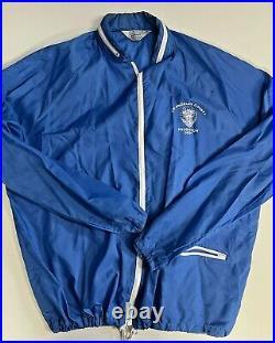 Vtg Los Angeles County Probation Dept Mens Blue Windbreaker Hooded Jacket XL