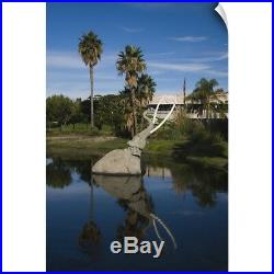 Wall Decal entitled La Brea Tar Pits, Miracle Mile, Los Angeles County