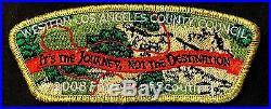Western Los Angeles County Council Oa Malibu 566 2008 Fos Flap Patch Csp