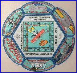 Western Los Angeles County MONOPOLY JSP Set 2017 National Jamboree BLUE 150-MINT